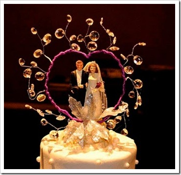 Incredible Sparkling Wedding Cake Toppers